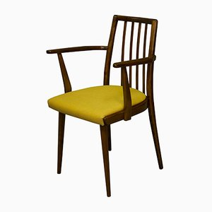 Mid-Century Dining Chair with Mustard Cushion by Jiri Jiroutek