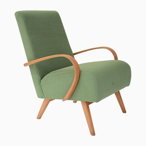 Mid-Century Czech Green Armchair by Jindrich Halabala