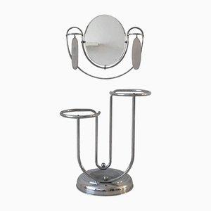 Paragüero Art Déco con espejo y cepillos, años 20