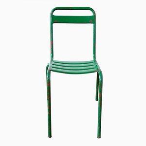 Grüner Vintage Bistro Stuhl aus Metall