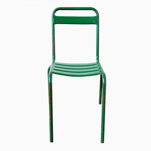 Vintage Green Metal Bistro Chair