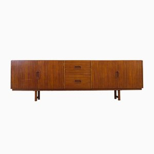 Large Teak Sideboard with Four Drawers, 1960s
