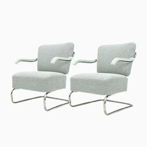 Cantilever Armchairs from Mücke Melder, 1930s, Set of 2