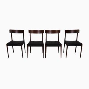 Mid-Century Tyr Palisander Stühle von Nils Jonsson für Troeds, 4er Set