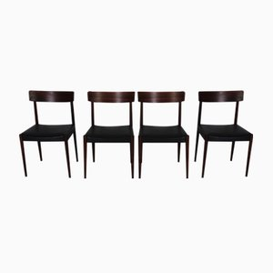 Mid-Century Tyr Rosewood Chairs by Nils Jonsson for Troeds, Set of 4