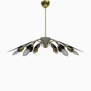 Italian Six-Light Sputnik Ceiling Light, 1950s