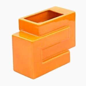 Orangenfarbene Vase von Pino Spagnolo für Sicart, 1970