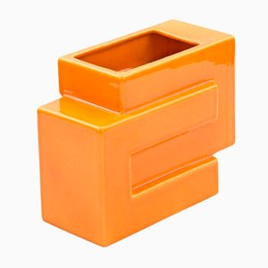 Vase Orange par Pino Spagnolo pour Sicart, 1970