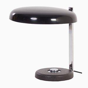 Schwarze Oslo Schreibtischlampe von Heinz Pfaender für Hillebrand, 1960er