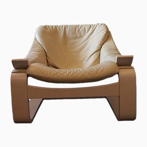Vintage Leather Cantilevered Kroken Chair by Åke Fribytter for Nelo Möbel
