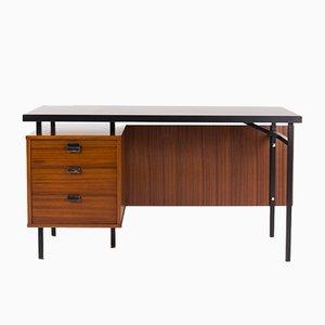 Mahagoni Schreibtisch von Jacques Hitier für Charron, 1950er