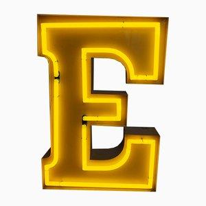 Lettre E Vintage en Néon