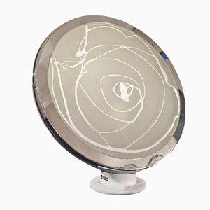 Stufa Glas Tischlampe von Angelo Brotto für Esperia, 1970