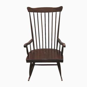 Mid-Century Scandinavian Wooden Rocking Chair