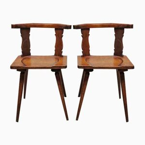 Antique Wooden Chairs, Set of 2