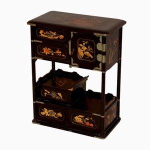 Armoire Antique Miniature Laquée, Chine