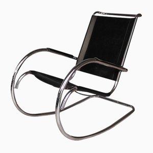 Rocking Chair Mid-Century en Tubes d'Acier par Mies van der Rohe pour Knoll