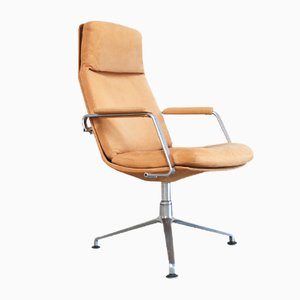 Mid-Century FK-86 Cognac Sand Leather Office Chair by Preben Fabricius & Jørgen Kastholm for Kill International