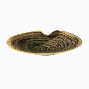 Cuenco grande de cristal de Murano, años 60