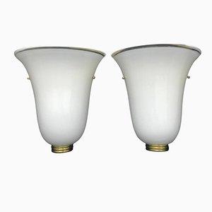 Murano Glas Wandlampen, 1960er, 2er Set