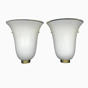 Murano Glass Wall Sconces, 1960s, Set of 2