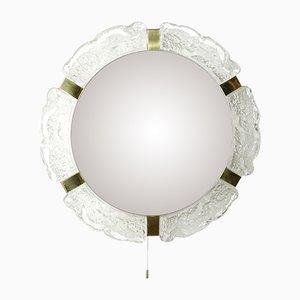 Espejo estilo Hollywood Regency grande iluminado de Hillebrad Lighting