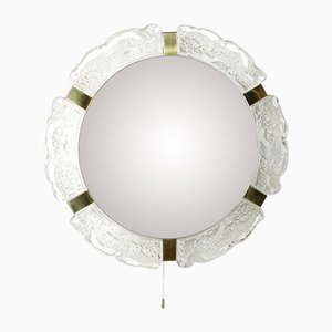 Large Lit Hollywood Regency Style Mirror from Hillebrad Lighting