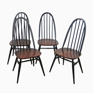 Quaker Back Windsor Armchairs by Lucian Ercolani for Ercol, 1970s, Set of 4