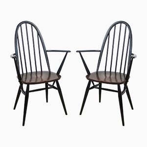 Vintage Quaker Back Windsor Armchairs by Lucian Ercolani for Ercol, 1970s, Set of 2