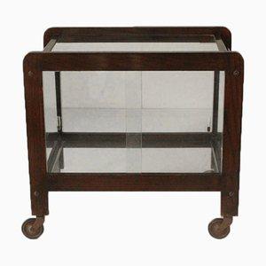 Vintage Mirrored Bar Cart