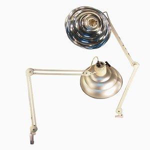 Verstellbare Industrielle Vintage Schreibtischlampen aus Chrom, 2er Set