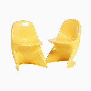 Sillas infantiles Casalino amarillas de Alexander Begge para Casala, años 70. Juego de 2
