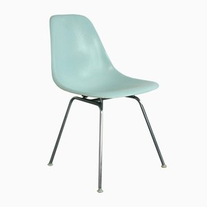 Hellblauer Vintage DSX Beistellstuhl von Charles & Ray Eames für Herman Miller
