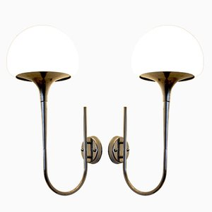 Mid-Century Italian Wall Lamps by Goffredo Reggiani, 1970s, Set of 2