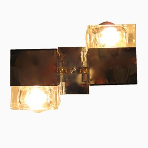Lámpara de pared Cubis italiana Mid-Century de Gaetano Sciolari