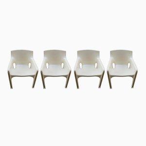 Chaises de Salon Gaudi par Vico Magistretti pour Artemide, 1970s, Set de 4