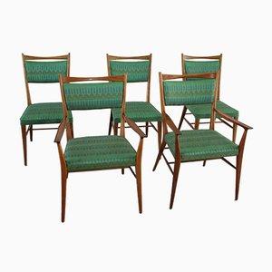 Esszimmerstühle aus Amerikanischem Nussholz von Paul McCobb, 1950er, 5er Set
