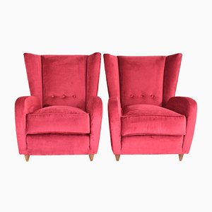 Italian Armchairs by Paolo Buffa, 1950s, Set of 2