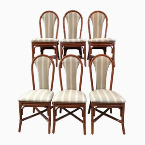 Rattan Chairs, 1980s, Set of 6