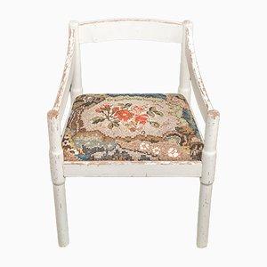 Chaise Blanche avec Tissu à Motifs et Mosaïque de Yukiko Nagai, 2013