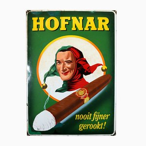Enameled Hofnar Cigars Sign from Langat Bussum, 1956