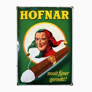 Enameled Hofnar Cigars Sign from Langat Bussum, 1956