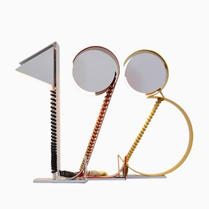 Vintage Table Lamps Shaped Like Numbers, Set of 3
