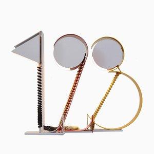 Vintage Ziffern Tischlampen, 3er Set