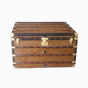 Vintage Stenciled Monogramm Steamer Trunk from Louis Vuitton