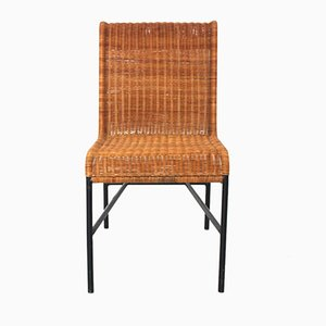 Mid-Century Modern Rattan Chair by Harold Cohen and Davis Pratt, 1953