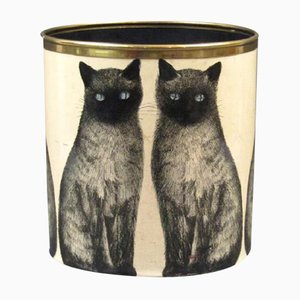 Siamese Cat Paper Basket by Piero Fornasetti, 1955
