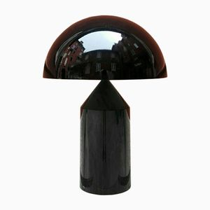 Black Atollo Lamp by Vico Magistretti for Oluce