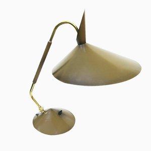 Lámpara de escritorio de latón y lacado de Hala, años 60