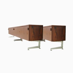 Credenza Diplomat Mid-Century in palissandro, 1968, set di 2